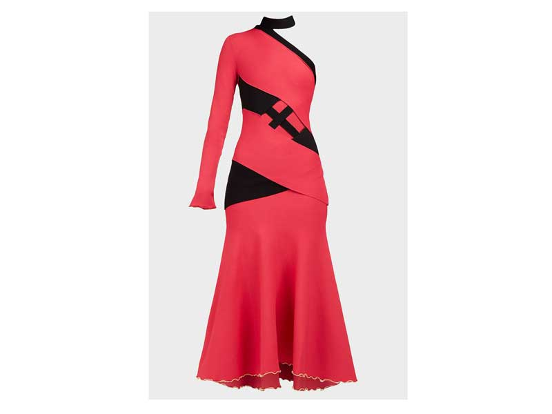 Red dress by Proenza Schouler at Boutique 1 in Mall of the Emirates
