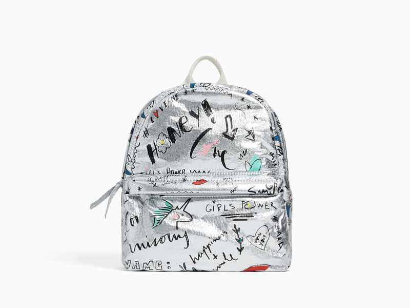 f6c330d96 حقيبة فضية اللون، من زارا للأطفال في مول الإمارات ومراكز سيتي سنتر للتسوق