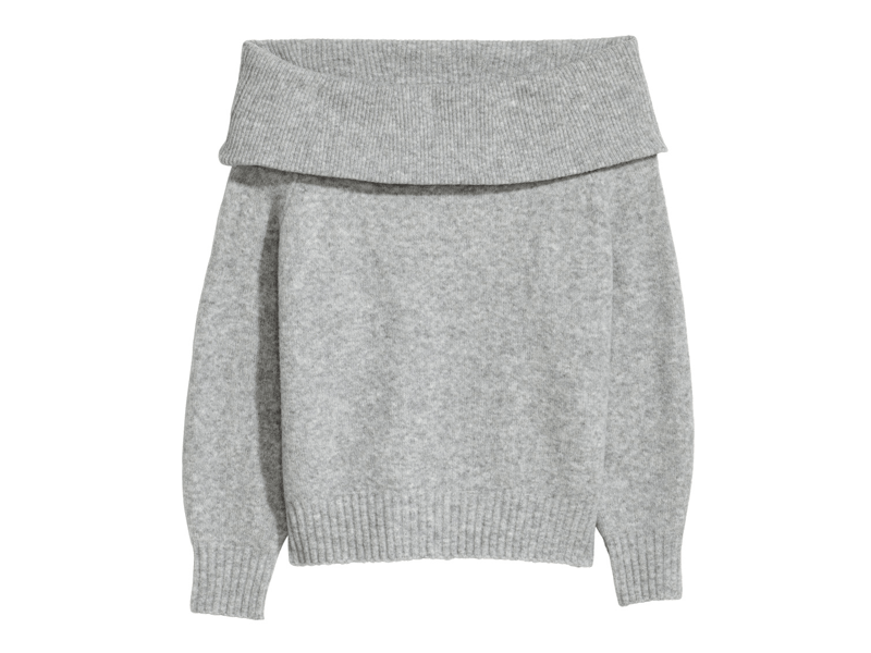 Grey jumper by H&M available at Mall of the Emirates and City Centres