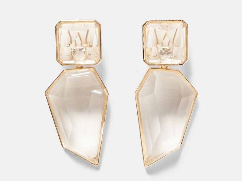 Clear stone earrings from Muscat Zara