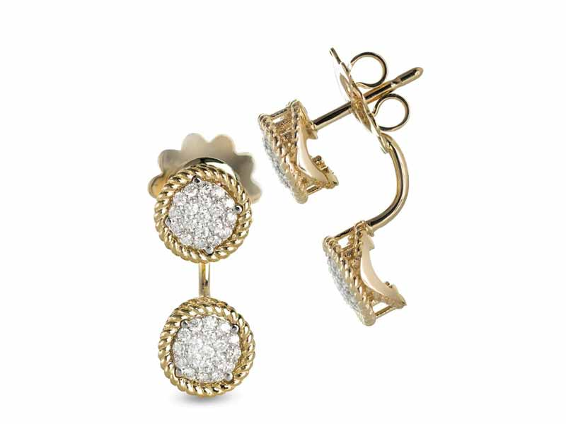 Diamond earrings by Roberto Coin at Mall of the Emirates or Damas at City Centres and Mall of Egypt