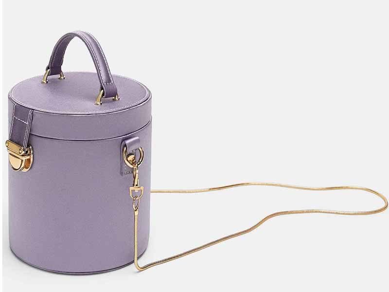 Mauve bag by Zara, available at Mall of the Emirates, Mall of Egypt, and City Centres