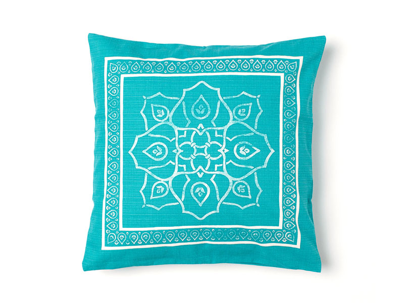 Turquoise printed pillow by H&M Home at City Centres